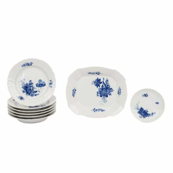 ROYAL COPENHAGEN coffee service for 6 persons 'curved blue flower and smooth', 20. Century. - photo 2