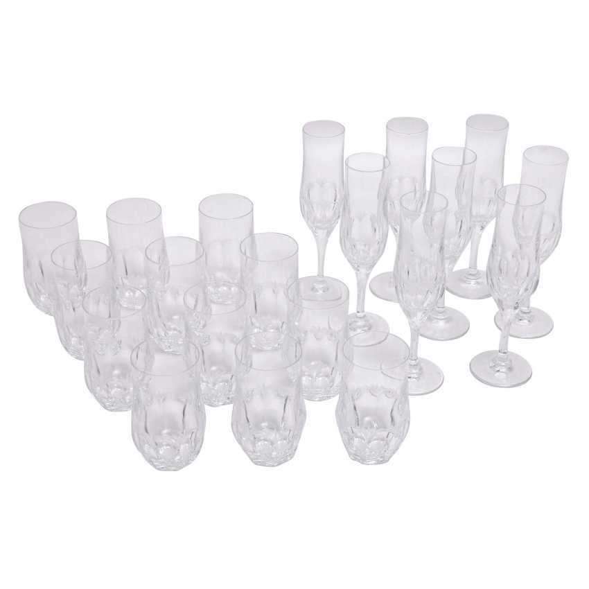 PEILL&PUTZLER 12 water glasses and 8 champagne flutes 'Diana', 20. Century. - photo 1