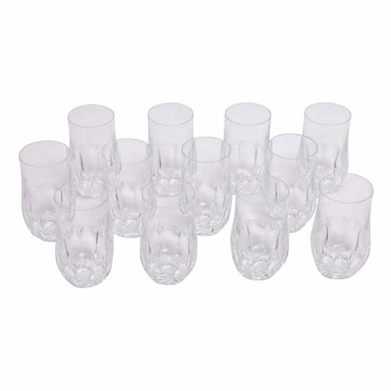 PEILL&PUTZLER 12 water glasses and 8 champagne flutes 'Diana', 20. Century. - photo 2