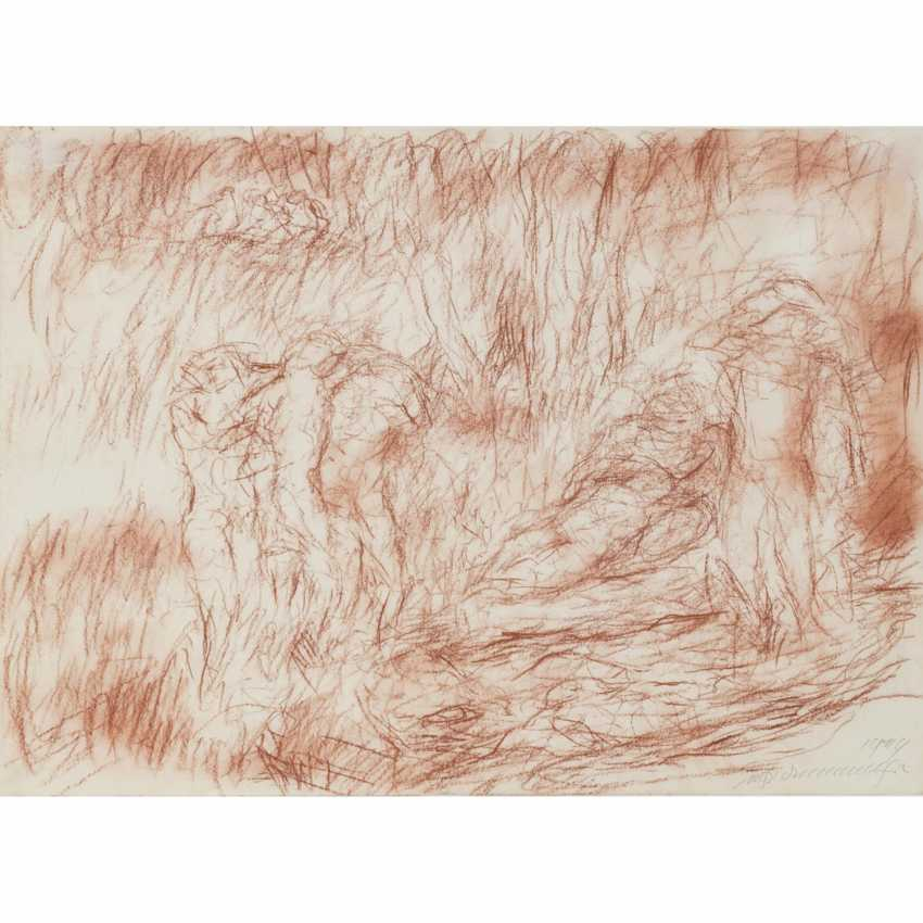 """HENNINGER, MANFRED (1894-1986), """"groups of figures on a forest edge"""", - photo 1"""