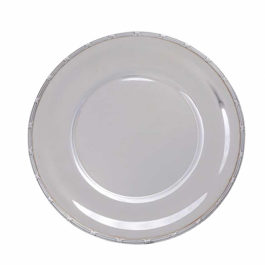 KOCH&BERGFELD 4 square plates 'cross band decor, silver plated, 20. Century. - photo 1