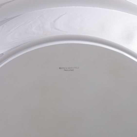KOCH&BERGFELD 4 square plates 'cross band decor, silver plated, 20. Century. - photo 3