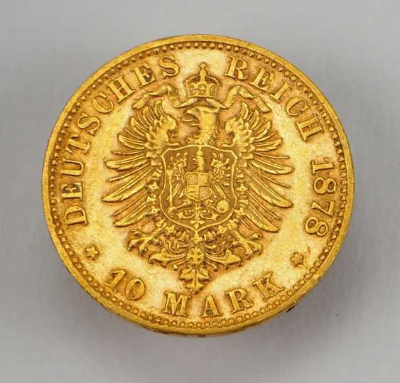 Saxony: 10 Mark - 1878 E. - photo 2