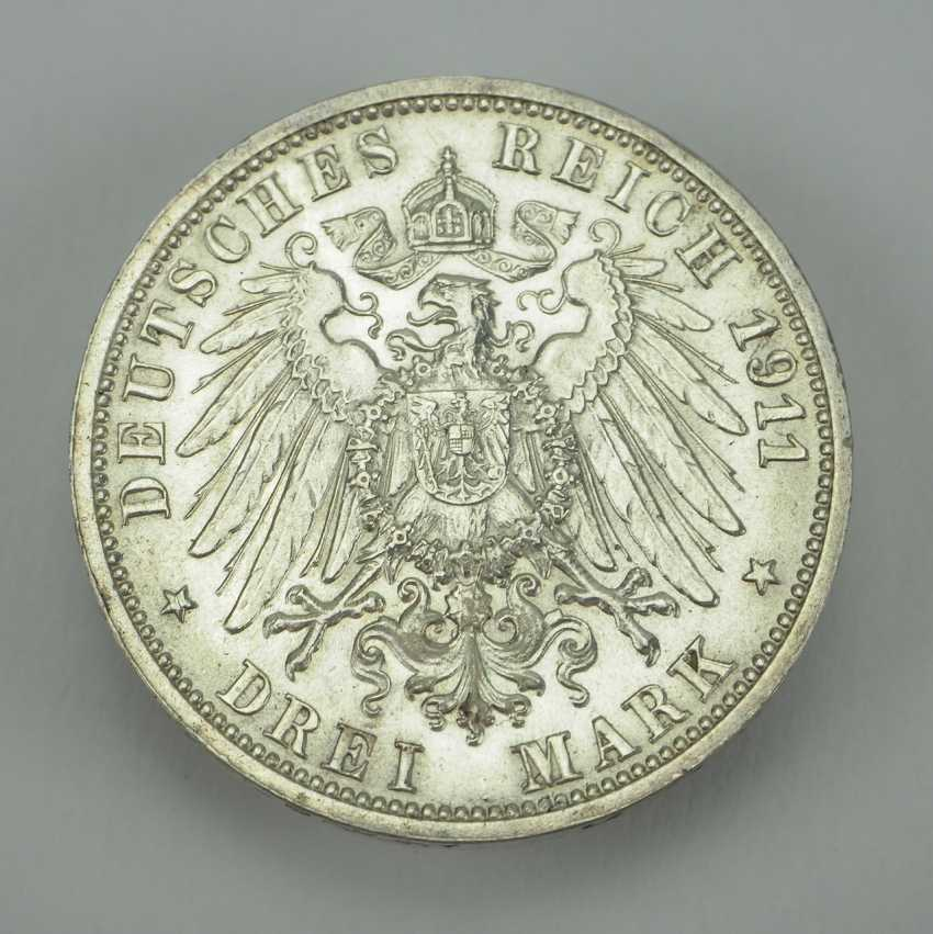 Württemberg 3 Mark 1911 F. - photo 2