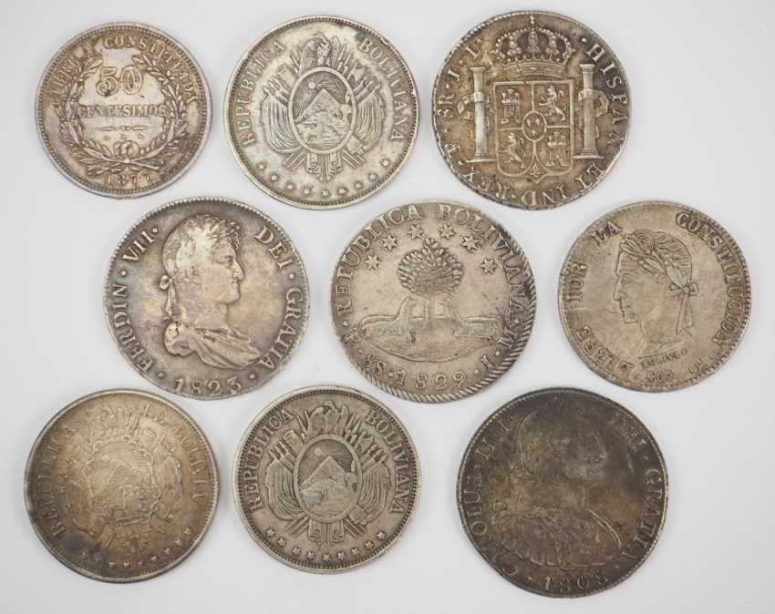 Bolivia: Collection Of Silver Coins. - photo 1
