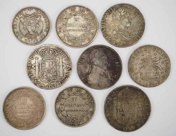 Bolivia: Collection Of Silver Coins. - photo 2
