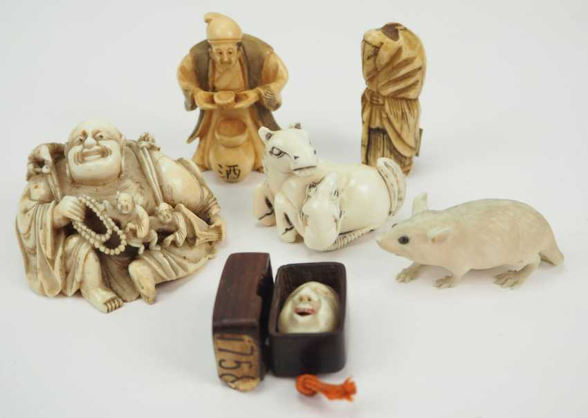 Japan: collection of 5 Netsuke. - photo 1