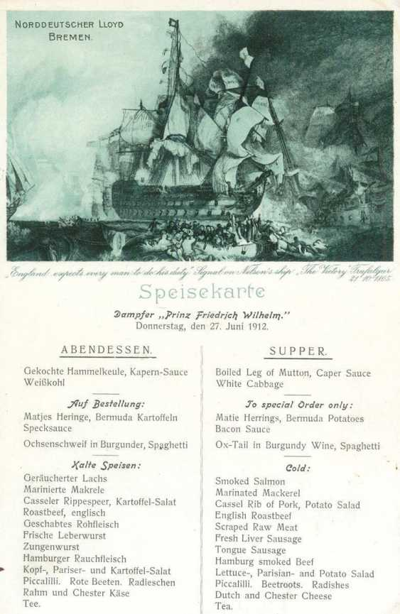 Ship-Dining Cards. - photo 1