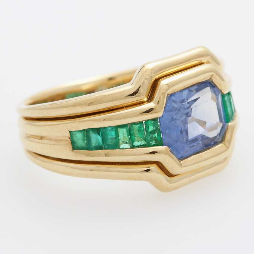 Ladies / men's ring m. occupied a sapphire - photo 2