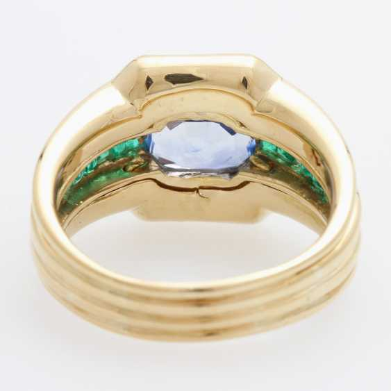 Ladies / men's ring m. occupied a sapphire - photo 4