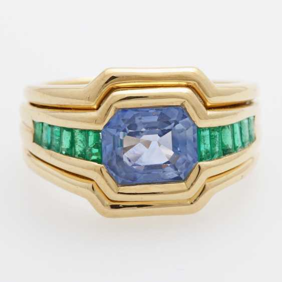 Ladies / men's ring m. occupied a sapphire - photo 1