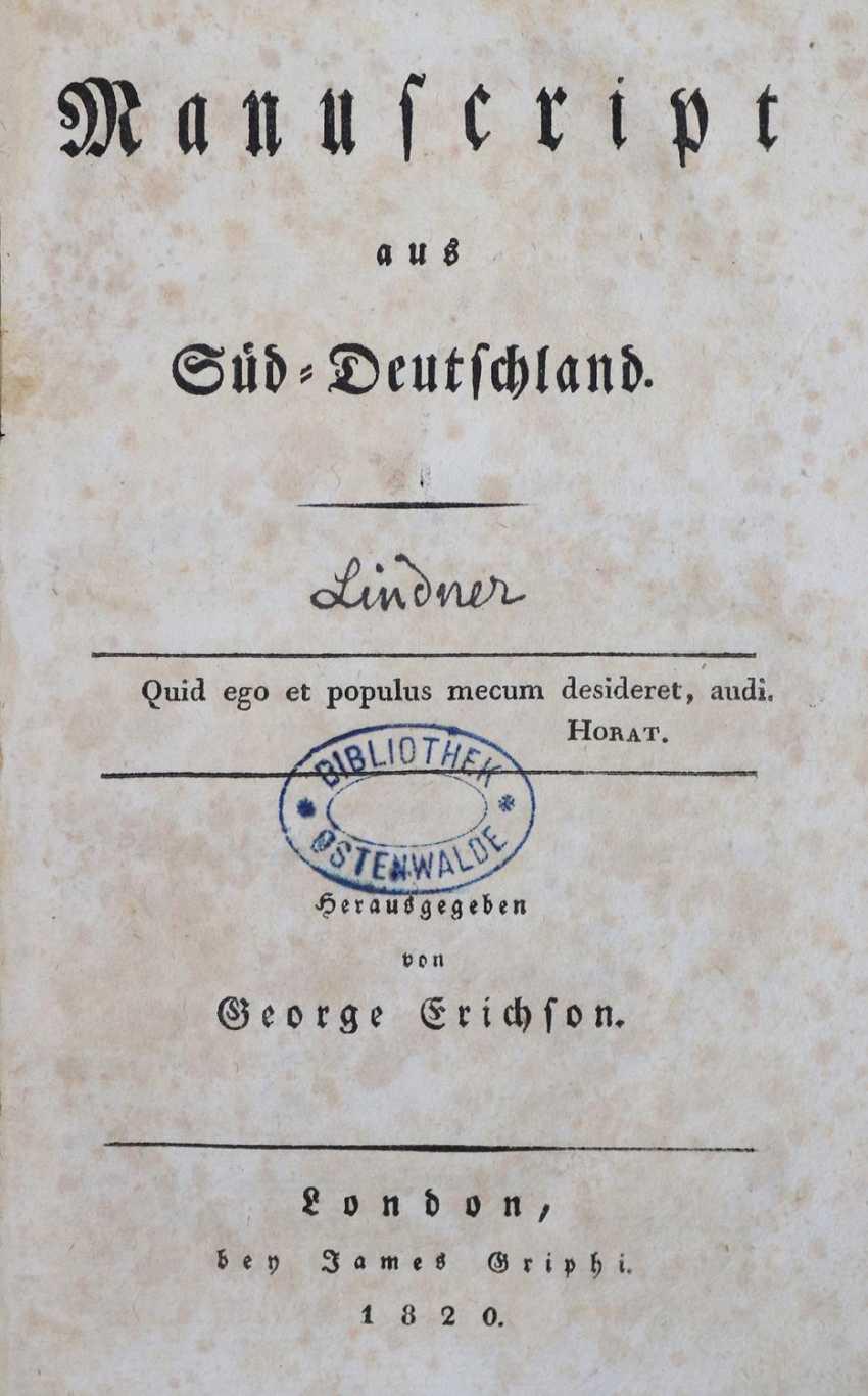 Erichson,G. (d. i. F. G. L. Lindner, editor). - photo 1