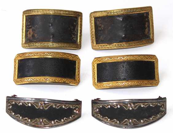 3 Pair Of Biedermeier-Style Boots With Buckles. - photo 1