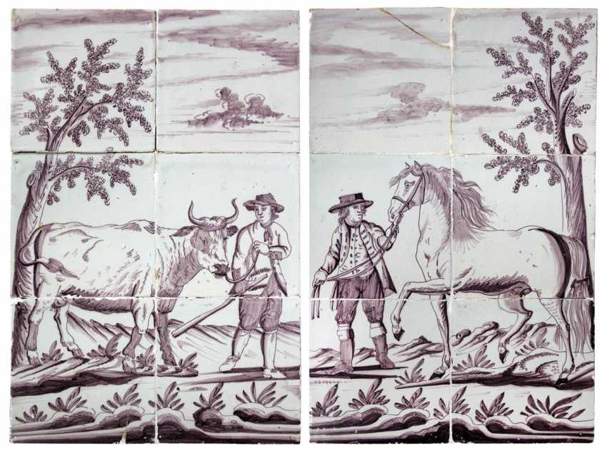 Delft-pair of tiled images - photo 3