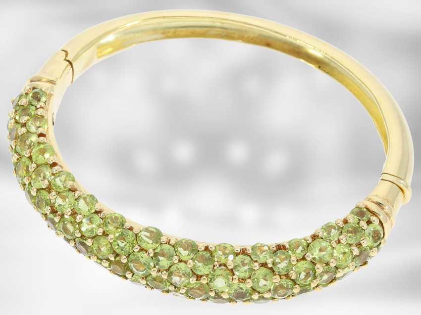 Chain/necklace/bracelet/Ring: very decorative vintage Peridot jewelry set, 18K and 14K Gold - photo 3