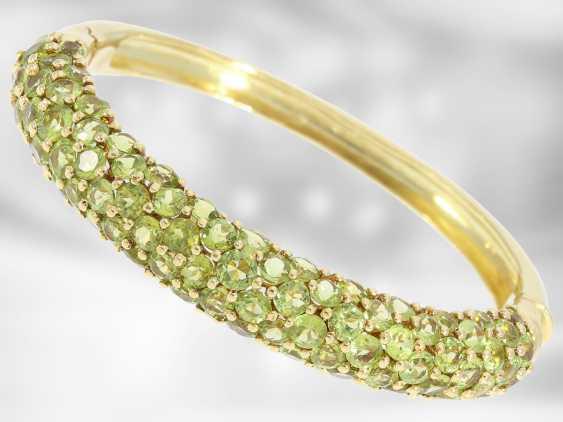 Chain/necklace/bracelet/Ring: very decorative vintage Peridot jewelry set, 18K and 14K Gold - photo 4
