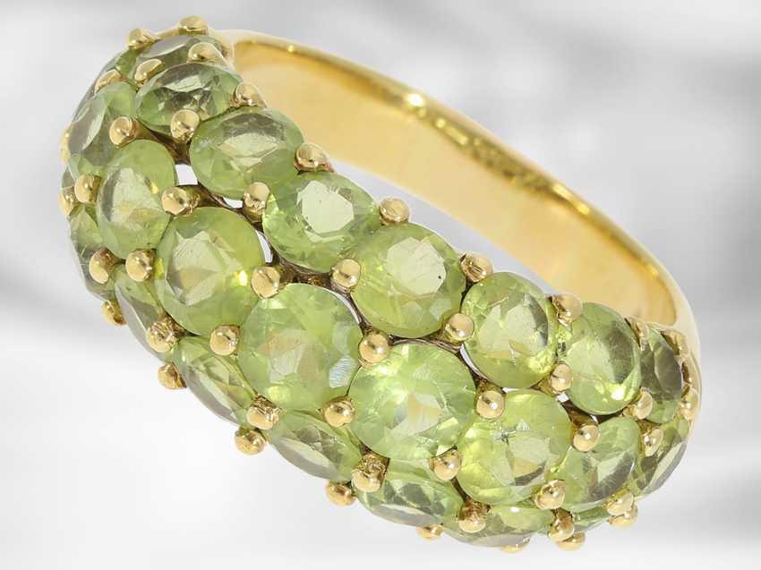 Chain/necklace/bracelet/Ring: very decorative vintage Peridot jewelry set, 18K and 14K Gold - photo 5