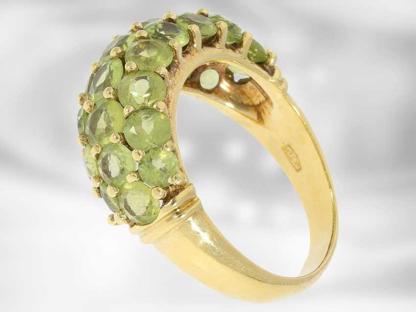 Chain/necklace/bracelet/Ring: very decorative vintage Peridot jewelry set, 18K and 14K Gold - photo 6