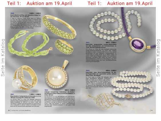 Chain/necklace/bracelet/Ring: very decorative vintage Peridot jewelry set, 18K and 14K Gold - photo 7