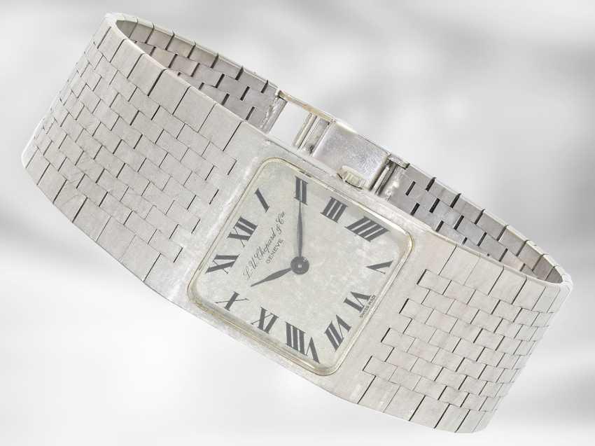 Watch: interesting, heavy white gold vintage wrist watch Chopard, 18K Gold - photo 1