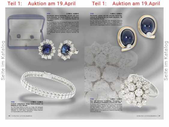 Bracelet: white gold vintage Revière bracelet with brilliant-cut diamonds, approx 2.5 ct, 18K Gold - photo 2