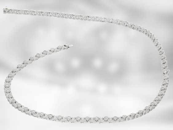 Chain/necklace/bracelet: this is an interesting variable white gold necklace with a rich, brilliant trim, 2-piece, also as a bracelet portable, a total of approx. 7,46 ct, 18K Gold - photo 5