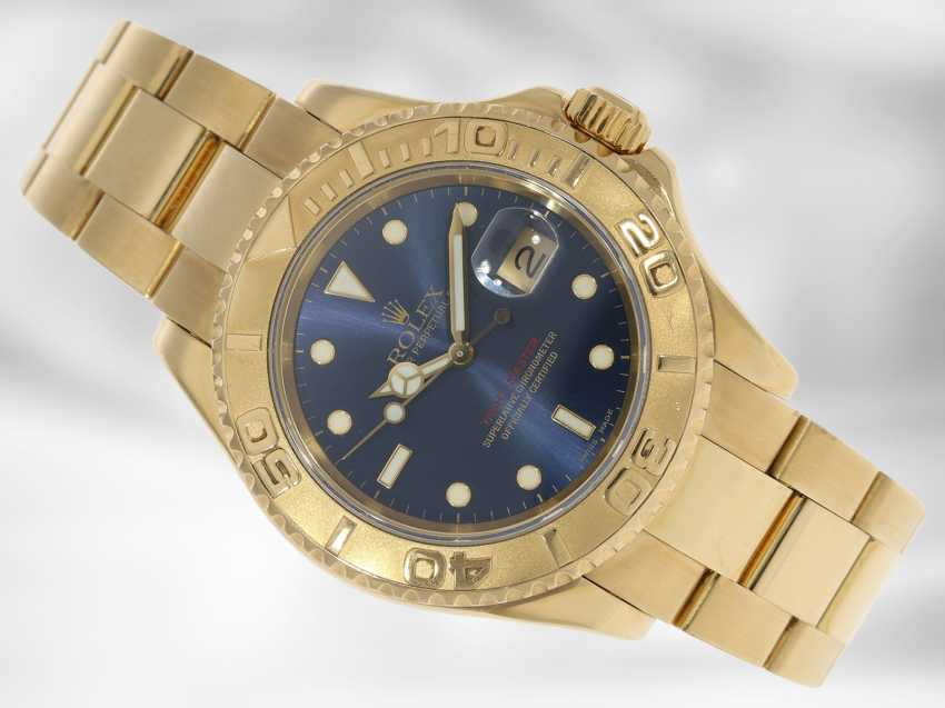 Watch: luxury Rolex watch, Yachtmaster Ref.16628 in gold, original papers, chronometer certification and Rolex calendar from 2003 - photo 1