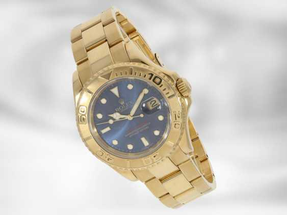 Watch: luxury Rolex watch, Yachtmaster Ref.16628 in gold, original papers, chronometer certification and Rolex calendar from 2003 - photo 2
