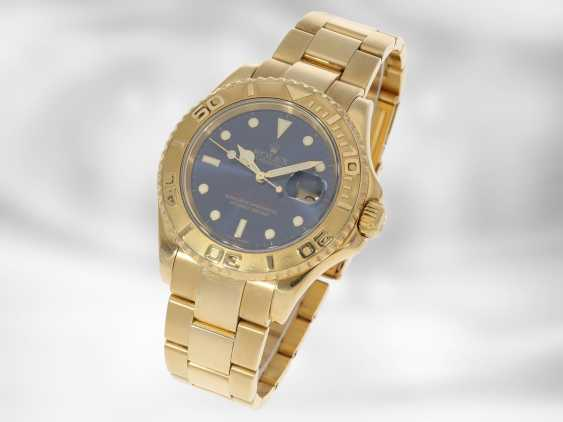 Watch: luxury Rolex watch, Yachtmaster Ref.16628 in gold, original papers, chronometer certification and Rolex calendar from 2003 - photo 3