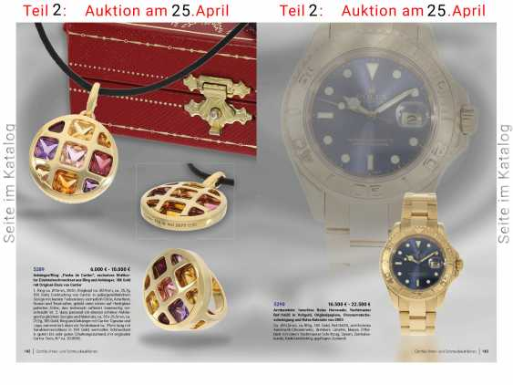 Watch: luxury Rolex watch, Yachtmaster Ref.16628 in gold, original papers, chronometer certification and Rolex calendar from 2003 - photo 7