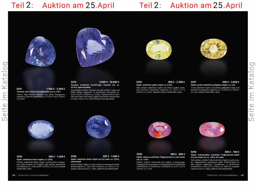 Sapphire: rare natural Padparadscha oval / mixed cut, approx 1,34 ct - photo 2