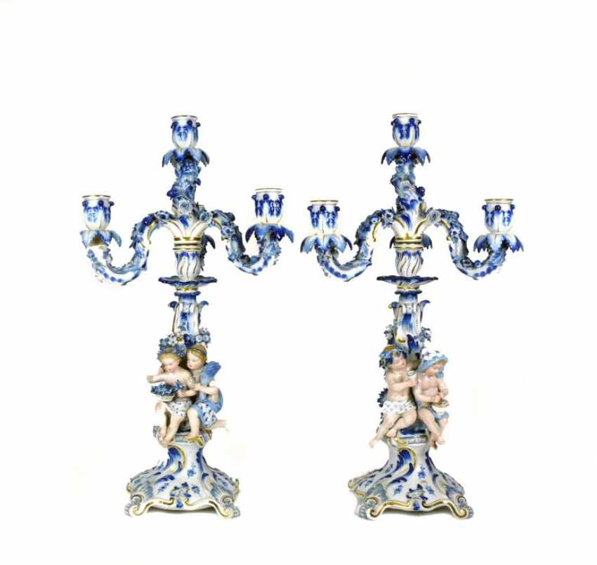 Pair Allegory Chandelier - photo 1