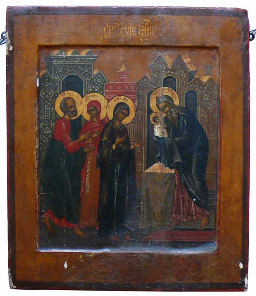 """Icon of """"Christ in the temple as well as the back Mandylion"""" - photo 1"""