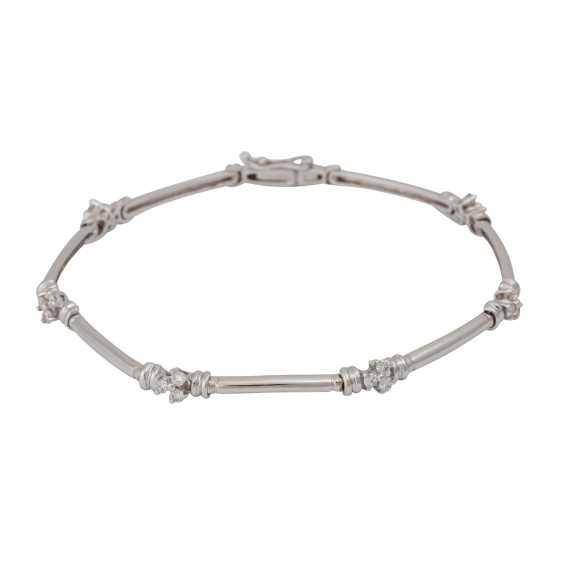 Bracelet with brilliant-cut diamonds, together CA. 0,50 ct, - photo 1