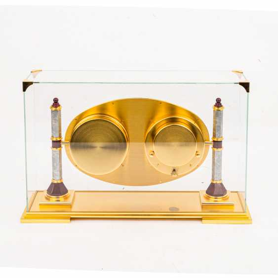 HOUR LAVIGNE REFINED TABLE CLOCK WITH ASTROLABE, UNDER GLASS DOME - photo 3