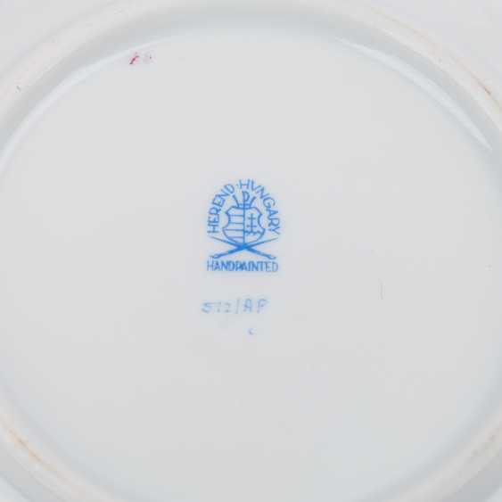 HEREND dining service for a minimum of 8 people 'Apponyi purple', 20. Century. - photo 5