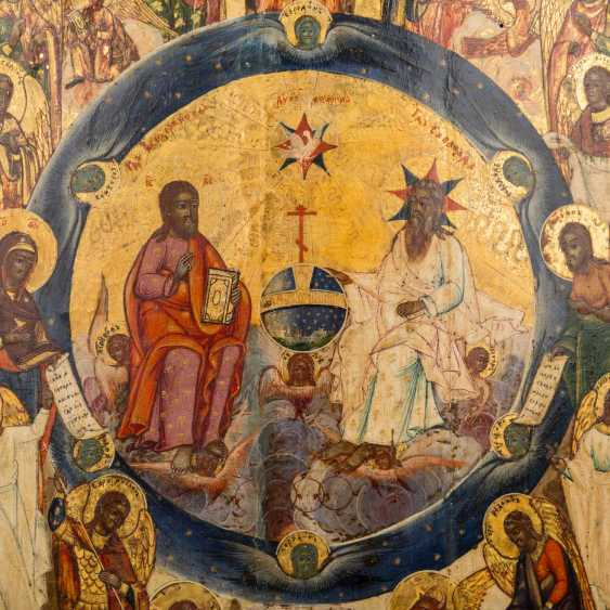 """ICON """"Jesus and God the father as judge of the world"""", Russia 18. Century, - photo 3"""