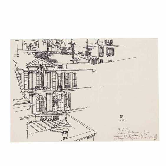 JANSSEN, HORST (1929-1995) 'A Parisian home', 1986. - photo 4