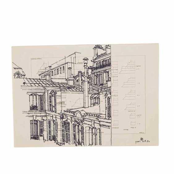 JANSSEN, HORST (1929-1995) 'A Parisian home', 1986. - photo 5