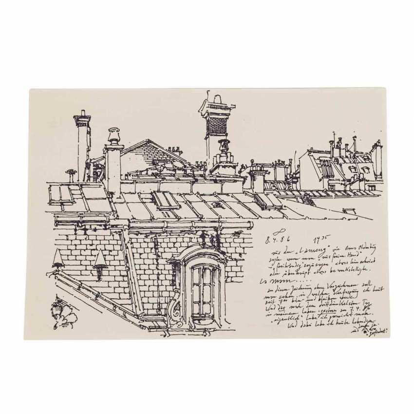 JANSSEN, HORST (1929-1995) 'A Parisian home', 1986. - photo 6