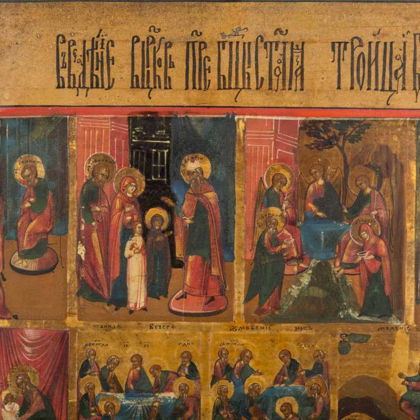 LARGE FESTIVE ICON WITH THE PASSION CYCLE - photo 3