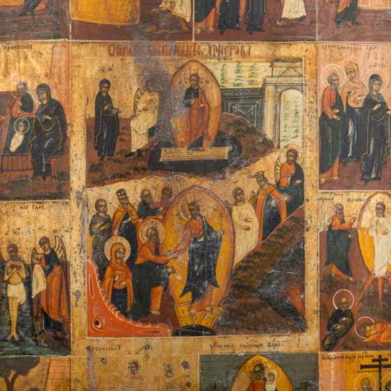 HOLIDAY ICON OF THE RESURRECTION OF CHRIST AND THE TWELVE GREAT FEASTS OF THE ORTHODOX CHURCH YEAR - photo 2