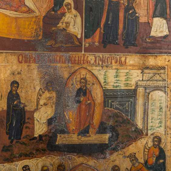 HOLIDAY ICON OF THE RESURRECTION OF CHRIST AND THE TWELVE GREAT FEASTS OF THE ORTHODOX CHURCH YEAR - photo 3