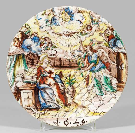 Rare Tyrolean earthenware-look dishes with the Annunciation scene - photo 1