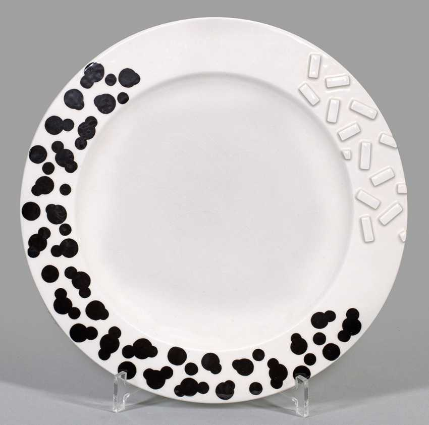"Memphis dinner plate ""rocket"" by Ettore Sottsass - photo 1"