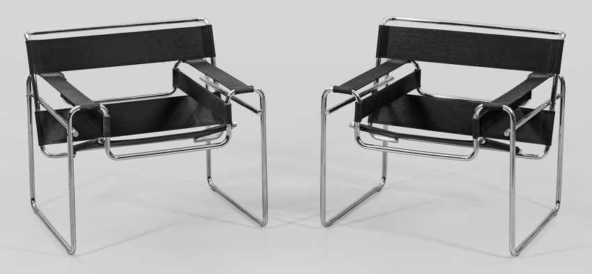 Pair of Wassily chairs by Marcel Breuer - photo 1