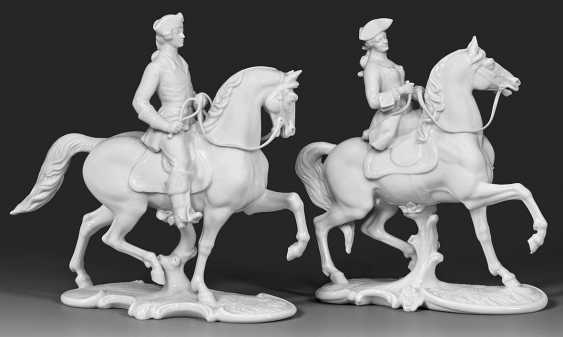 "Horseman, and ""Horsewoman"" from the Nymphenburger Jagd - photo 1"