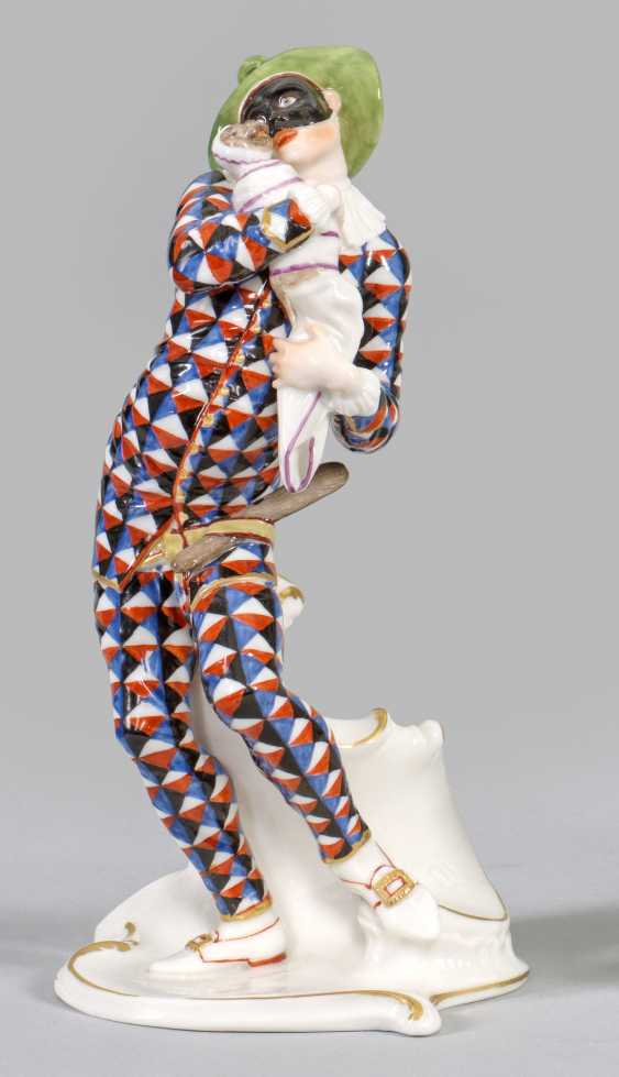 Harlequin with a monkey child from the Italian Comedy - photo 1