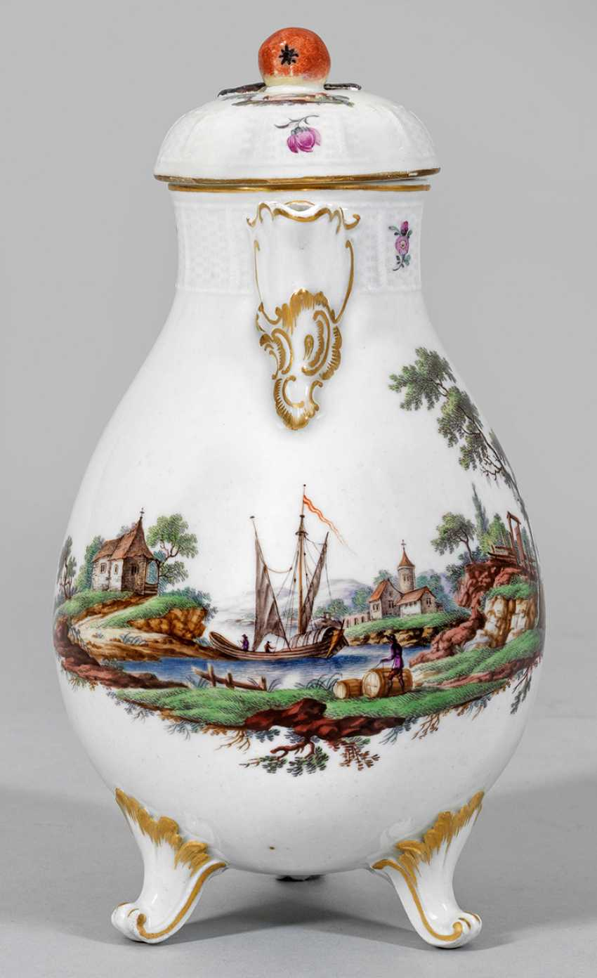 Coffee pot with river landscape - photo 1
