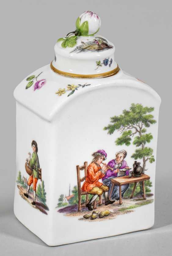 Tea caddy with Teniers scenes - photo 1